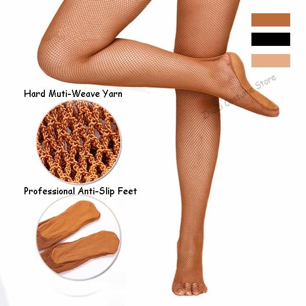 Sexy Women Professional Fishnet Tights Hard Network Dance Stocking Pantyhose Ballroom Latin Dance Dress For Women