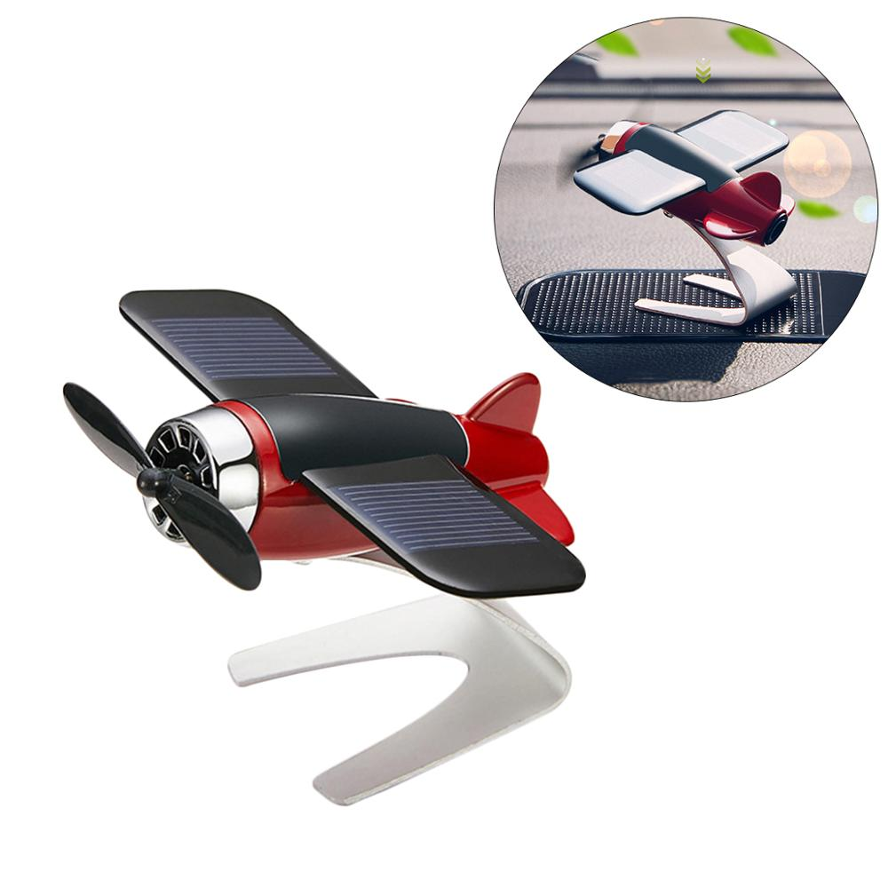 Car Perfume Airplane Decoration Alloy Solar Airplane Solid Aromatherapy Car Styling Dashboard Aircraft Toys Accessories