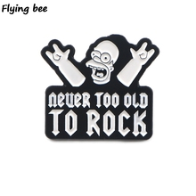 Flyingbee Cartoon kids funny pins Enamel Pin For Clothes Bags Backpack badge Funny Cute Brooch Shirt Lapel Pins X0405