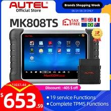 Autel MaxiCheck MK808TS OBD2 TPMS диагностический инструмент сканер автомобильный OBDII считыватель кодов ключ Программирование MX датчик IMMO DPF Mk808