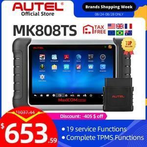 Image 1 - Autel maxicheck MK808TS OBD2 tpms診断ツールスキャナ自動車obdiiコードリーダーキープログラミングmxセンサーimmo dpf Mk808
