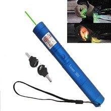 Высокая мощность Зеленая лазерная указка Военная горящая мощь Мощный лазерный прицел 5000 м 532 Нм лазерная ручка фокусируемая спичка для сжигания