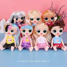 17CM Big Eyes Surprise Fashion Girl Doll Cute Freckle Face Girl Dolls Funny Colorful Long Hair Surprise Toys Gift for Children free shipping big discount rbl 299diy nude blyth doll birthday gift for girl 4colour big eyes dolls with beautiful hair cute toy