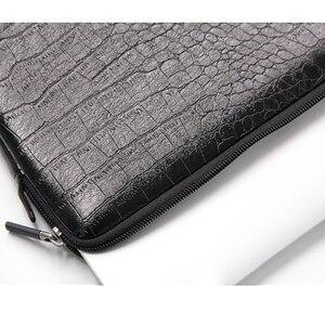 Image 5 - Waterdichte Lederen Laptop Sleeve Bag Notebook Case Cover Pouch Voor 12 13 15 inch Macbook Air Pro Retina