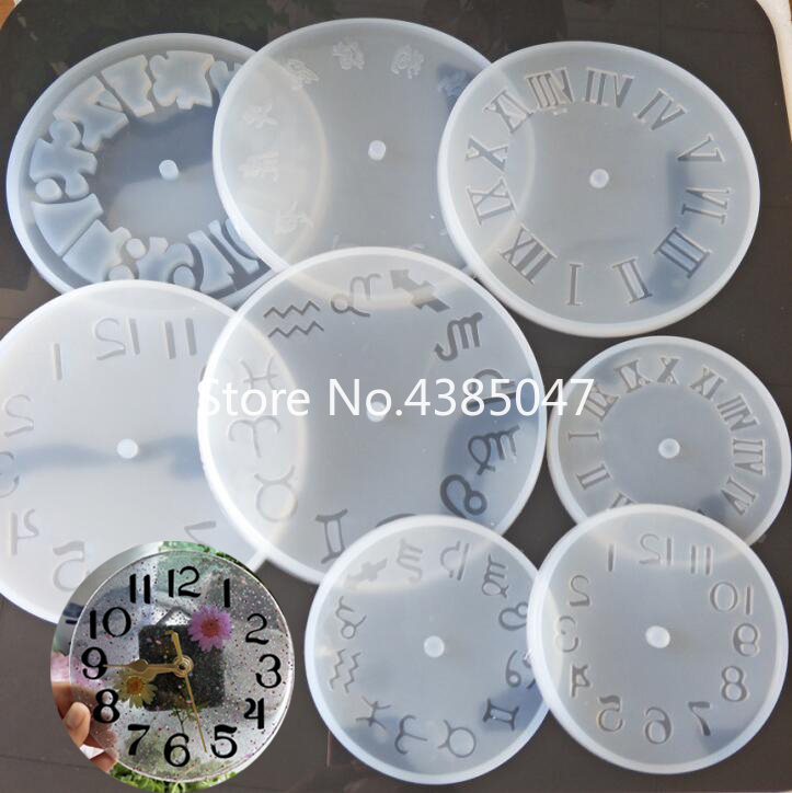 1PC Clock Liquid Silicone Expoxy Mold Resin Jewelry Mold UV Pendant Jewelry Accessories Handcraft Jewelry Tool