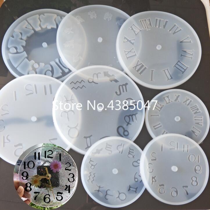 1PC Clock Liquid Silicone Expoxy Mold Resin Jewelry Mold UV Pendant Jewelry Accessories Handcraft Jewelry Tool