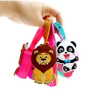 30 ML Cute Cartoon Animals Silicone Mini Hand Sanitizer Holder Travel Portable Gel Holder Hangable Liquid Dispenser Containers