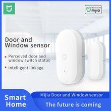 Sensor de puerta y ventana Xiaomi Zigbee, interruptor inalámbrico inteligente para hogar, sistema de alarma, conexión inalámbrica, funciona con Mijia Hub Mi Gateway 3