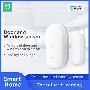 Image 1 - Xiaomi Deur Raam Sensor Smart Home Draadloze Schakelaar Alarm Systeem Zigbee Draadloze Sluit Werken Met Mijia Hub Mi Gateway 3