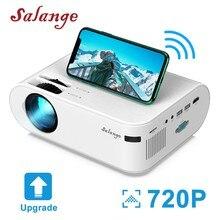 Salange P62 Mini Projektor 4000 Lumen, 1920*1080P Unterstützt LED Video Beamer Für Handy Mirroring Android optional