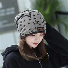 Spring and Autumn New Style Cotton Ear Protector Moon Cap with Side Star Headgear Fashion Pentagonal Stack