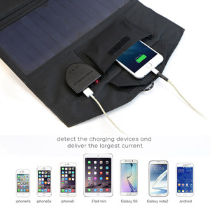 Image 4 - ALLPOWERS 18V 21W Solar Charger Panel Waterproof Foldable Solar Power Bank for 12v Car Battery Mobile Phone Outdoor Hiking