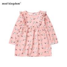 Mudkingdom/комплекты для девочек платья с длинными рукавами