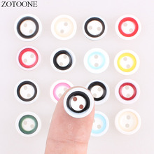 ZOTOONE Plastic Round Resin Buttons 50PCS Handmade Cute Noel Accessories Scrapbooking for Coat DIY Craft Decoration Button E