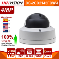 Original Hikvision ip camera DS 2CD2145FWD I PoE 4MP Network CCTV security Night version micro SD card ONVIF ISAPI alarm port