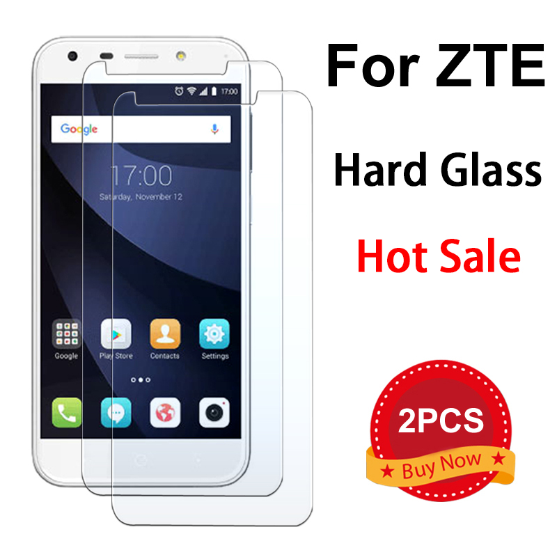 2PCS Protective Glass For ZTE V9 V10 Vita X3 X5 Film Hard Clear Toughed Tempered Glass For ZTE Blade