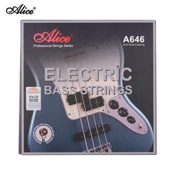 Alice A646(4)-M elektryczna gitara basowa struny sześciokątne rdzeń ze stopu żelaza struny do 4-strunowych 22-24 progów elektryczna gitara basowa tanie i dobre opinie CN (pochodzenie) NONE