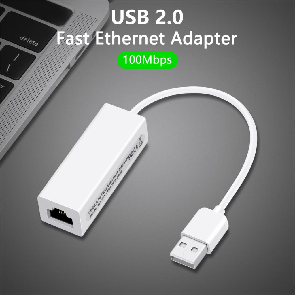 USB To RJ45 Ethernet Lan Network Adapter For PC Laptop Windows Mac ChromeOS Linux USB Ethernet Network Card RD9700 H03