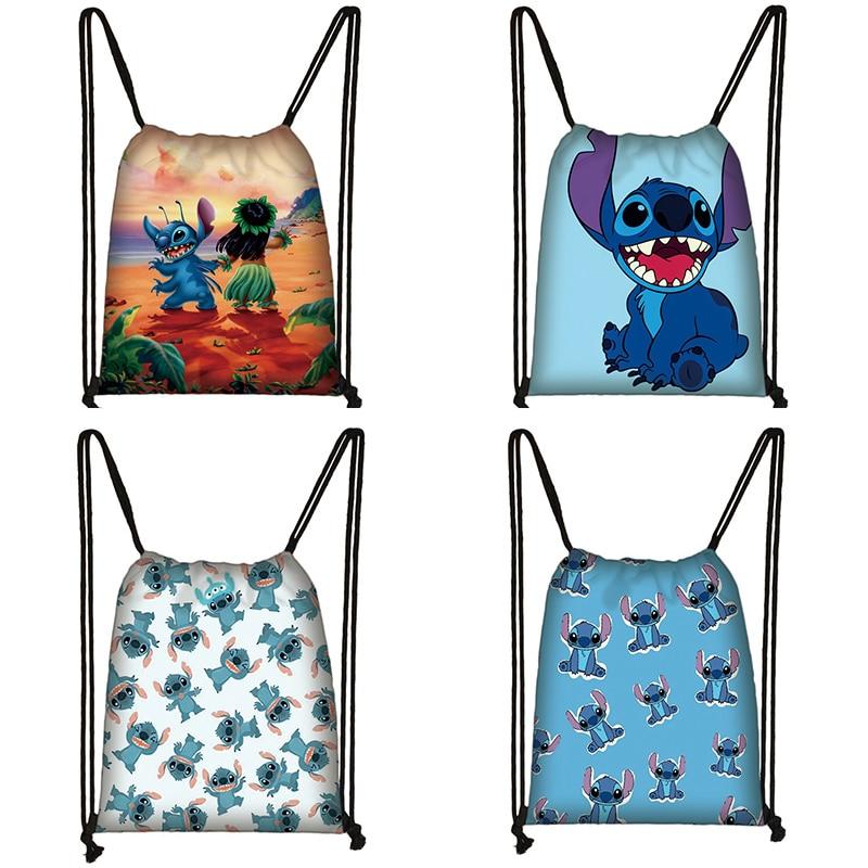 Popular Anime Print Drawstring Bag Women Travel Bag Teenager School Bag Brown Girl And Boy Backpack Fashion Female Storage Bags