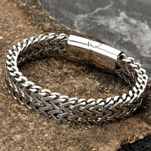 Men Bracelet Hand-Accessories Male Jewelry Magnetic Clasp Gift Boyfriends Stainless-Steel