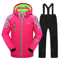 Children Clothing Set Kids clothes Girl Winter Warm Skiing Suit Windproof Ski Jacket Pant Teens Outdoor Sport Suits for Girls