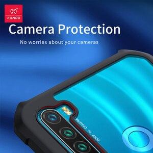 Image 4 - Pokrowiec Shookproof do Redmi Note 8T pokrowiec ochronny poduszka powietrzna pierścień zderzaka tylna pokrywa przezroczysta powłoka do Xiaomi Redmi Note 8