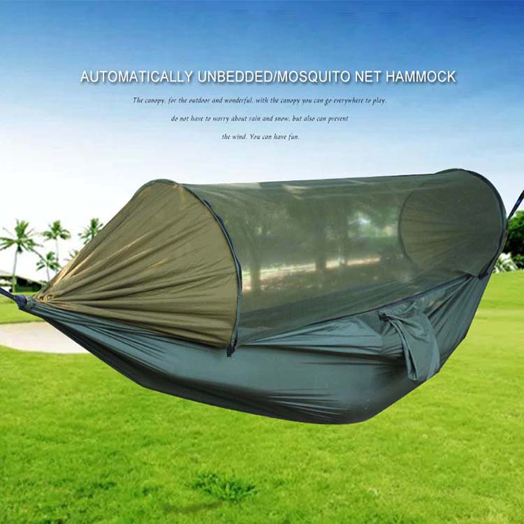 280*140cm Portable Outdoor Hammock with Mosquito Net Fabric High Strength Hanging Bed for Sleeping Swing Camping hangmat ערסל|Hammocks| |  -