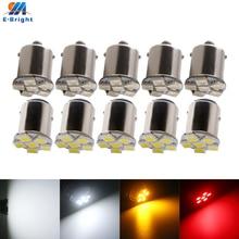 Светодиодные лампы для автомобиля, 10 шт., 6 В постоянного тока, 6,3 В, P21W 1156 BA15S P21/5W 1157 BAY15D 5050 6 SMD, 80 лм, белая, синяя, желтая, красная, зеленая, гетер...