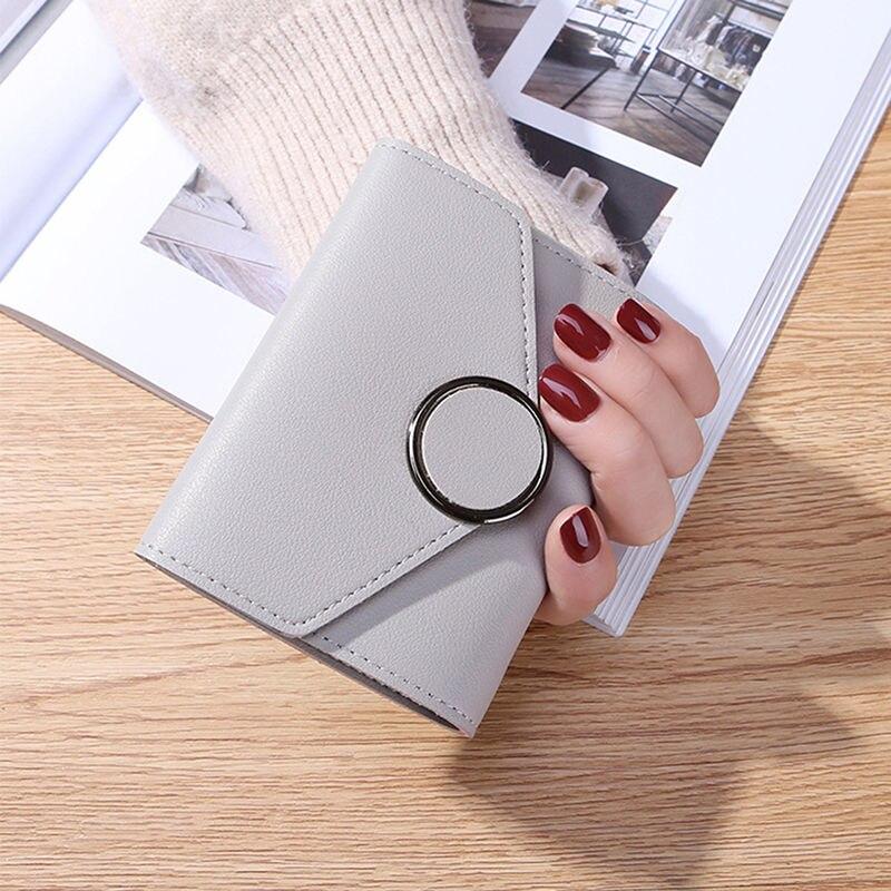 Utili portafogli di nuova moda affascinanti belle donne semplice portafoglio corto Hasp portamonete portamonete borsa borsa semplice con fibbia corta