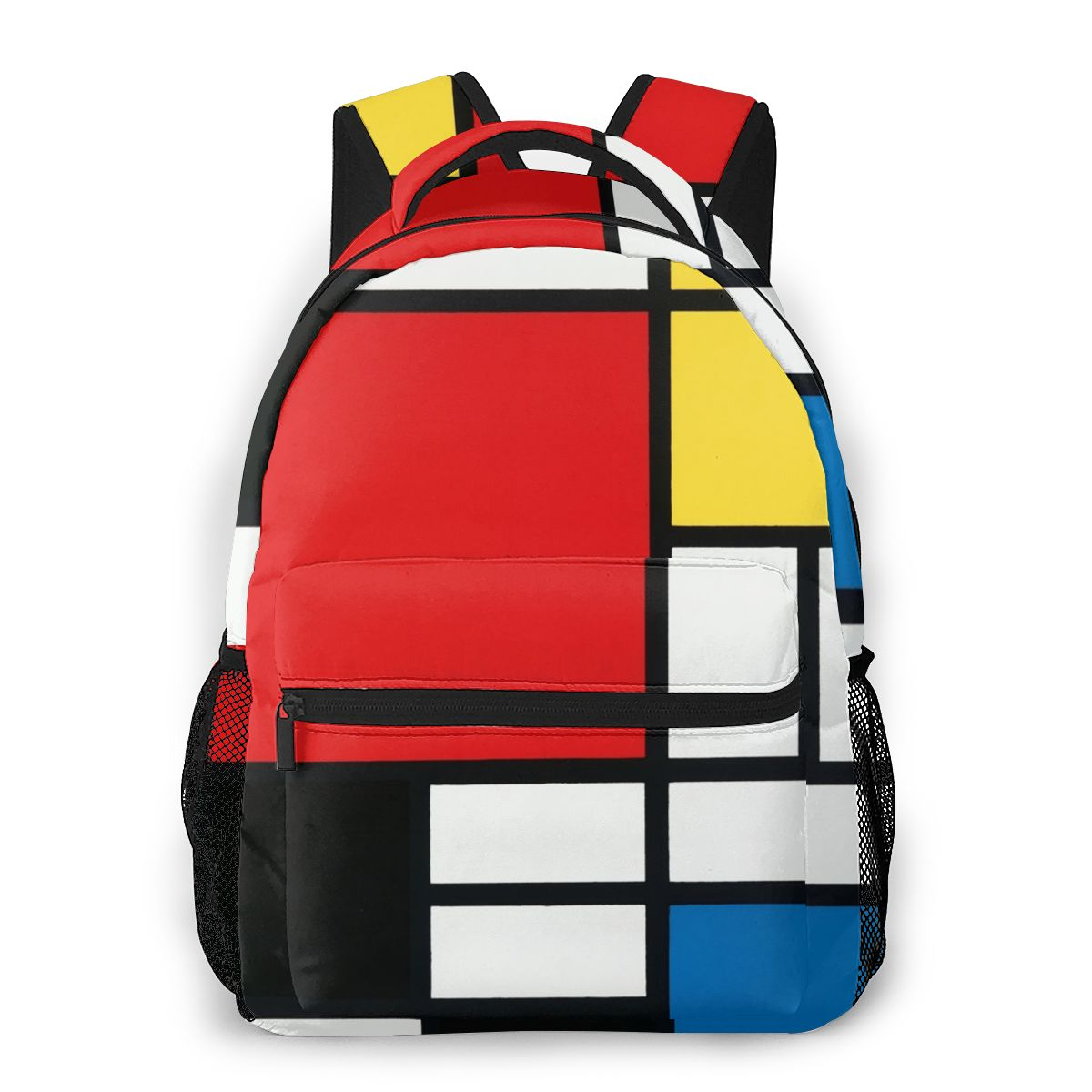Piet Mondrian Backpack School Bags Casual For Teenager Girls Shoulder Bag Travel Bags