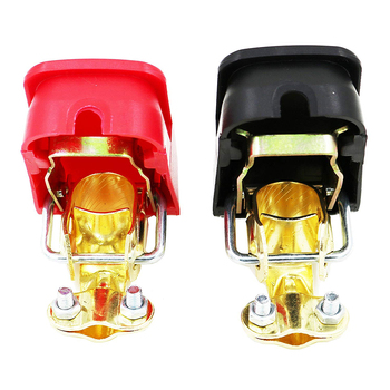 Universal Car Battery Terminal Connector Battery 2pcs Quick Release Battery Terminals Clamps Toggle Switch Parts for Truck Auto image
