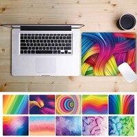 Pu Leder Nicht-slip Maus Pad für Laptop Apple Huawei Hp Xiaomi Asus Aquarell Serie Wasserdichte Tisch Matte Maus pads