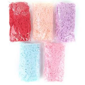 20 г цветная измельченная бумажная рафия конфетная коробка DIY Подарочная коробка, наполняющая бумагу, вечерние подарочные посылка, наполнит...