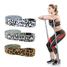 Bandas de resistencia para la cadera con estampado de leopardo, bandas elásticas para ejercicio de glúteos, piernas, Fitness, gimnasio, Yoga, equipo de entrenamiento de estiramiento