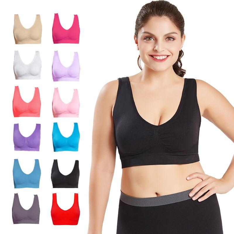 Plus Size Bras For Women Seamless Bra With Pads Big Size 4XL 5XL Bralette Push Up Brassiere Bra Vest Wireless Active Bra