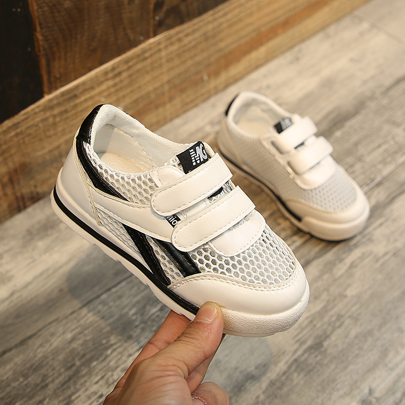 Children Casual Shoes For Toddler Boy Girl Hollow Air-permeable Running Shoes Pink White Black 3Colors Baby Kids Sneakers 1*Pair
