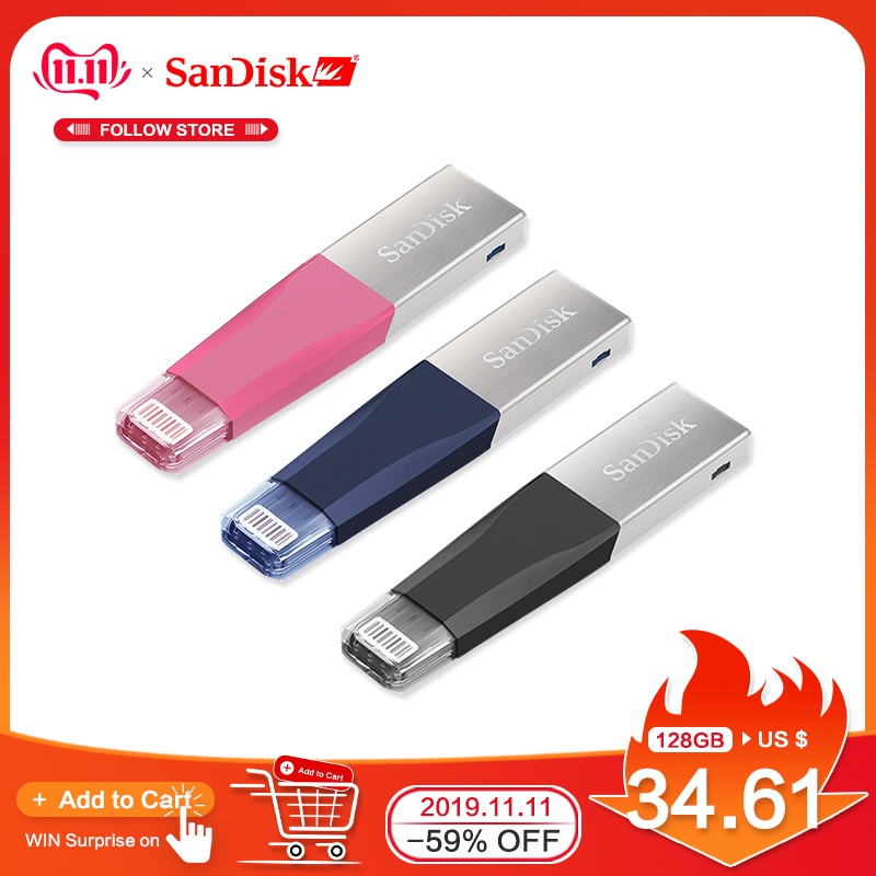 Sandisk Pen Drives USB3 0 OTG USB Flash Drive PenDrives for iPhone iPad iPod Memory Stick