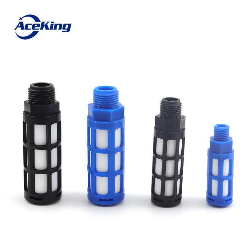 5 pcs  Pneumatic plastic muffler fast exhaust sound absorption noise reduction filter 1/8 1/4 3/8 1/2 thread
