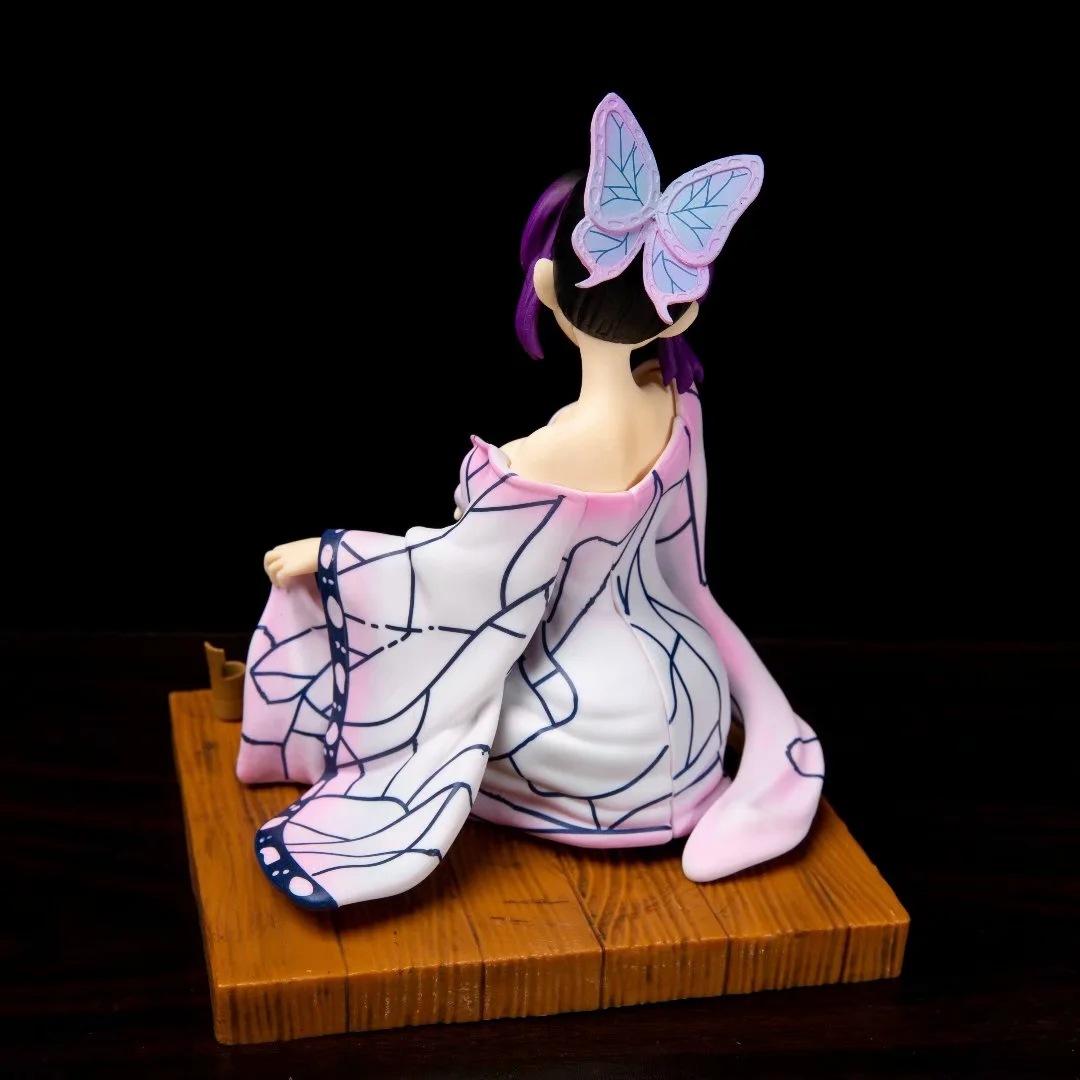 Figure Anime Toy Demon Slayer Blade Yukata Butterfly Ninja Pillar Sitting Model