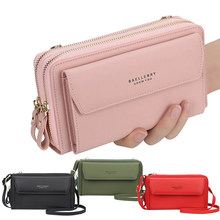 Women's leather Wallet Multifunction Small Shoulder Bag Mobile Phone Crossbody Purse Card package Organizer Clutch