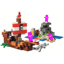 The Pirate Ship Adventure Building Blocks Sets Bricks Classic Movie Model Kids Minecrafted Toys For Children Gift цена