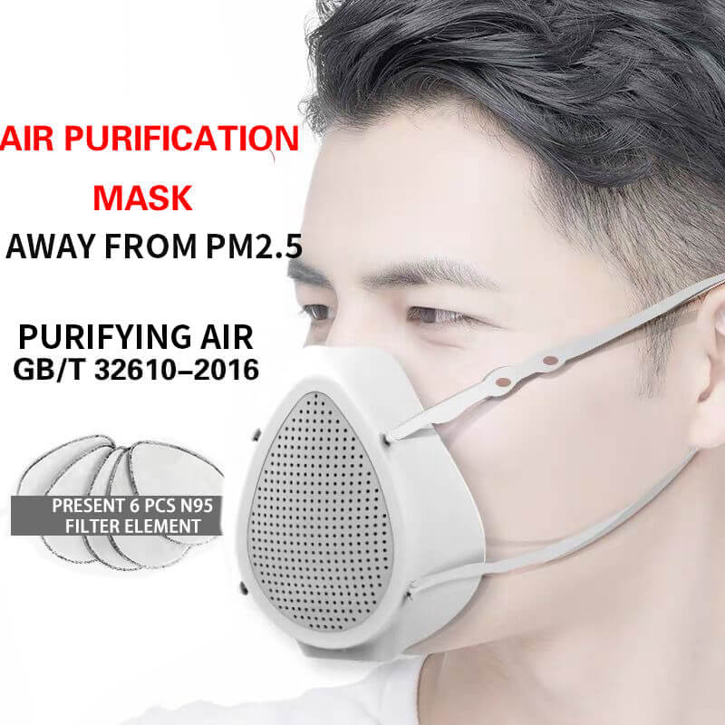 N95 Electric Mask Anti Dust Filter Purification Air For Child Adult Face Electric Mask Respirator Pm2.5 99% Filtering Characte