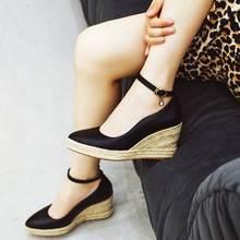 Женские туфли с ремешком на щиколотке eagsity повседневные лодочки