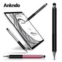 Universal 2 em 1 stylus desenho tablet canetas tela capacitiva caneta caneta de toque para celular android telefone inteligente caneta acessórios