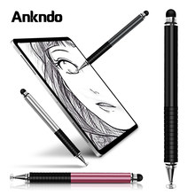 Universele 2 In 1 Stylus Tekening Tablet Pennen Capacitieve Scherm Caneta Touch Pen Voor Mobiele Android Telefoon Smart Pen Accessoires(China)