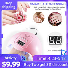 48W Professional USB Nail Dryer UV LED Lamp Gel Curing Fast Dry Nail Art Machine USB Lamp Light Nail Smart Gel Polish Dryer D 48w nail lamp 2in1 smart phototherapy electric machine nail dryer for curing nail gel polish led uv lamp for hand and foot