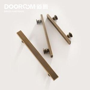 Image 3 - Dooroom tiradores de latón para muebles, tiradores de lujo de color negro y dorado, para armario, armario, barra de vino, cajón, pomos