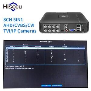 Image 3 - 5 in 1 CCTV Mini DVR TVI CVI AHD CVBS IP kamera dijital Video kaydedici 4CH 8CH AHD DVR NVR CCTV sistemi P2P güvenlik Hiseeu