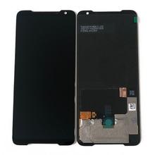 "6.59 ""oryginalny Supor Amoled M & Sen dla ASUS ROG telefon 2 Phone2 PhoneⅡ ZS660KL ekran LCD Panel dotykowy Digitizer z ramką"
