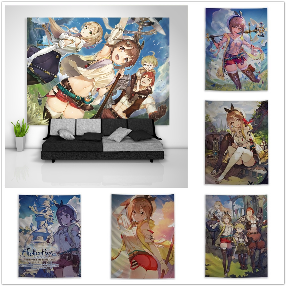 Game Atelier Ryza Anime Wall Scroll Poster Home Room Art Decor collection Gift